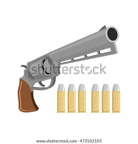 gun with silver bullets