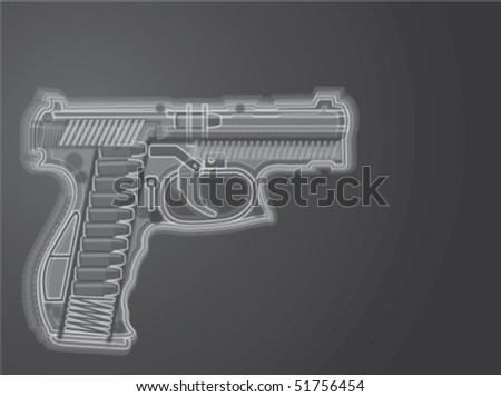 Gun X Ray Illustration Vector