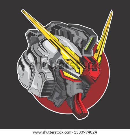 gundam head logo