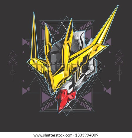 gundam head vector