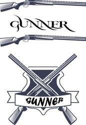 Gunner season vector design arts