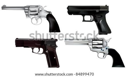 guns - stock vector