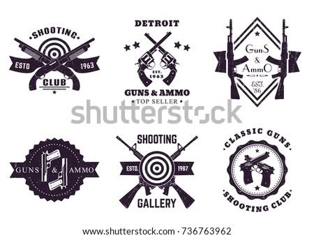 guns and ammo  vintage logos ...