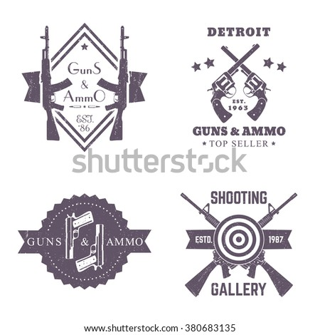 guns and ammo  vintage logos