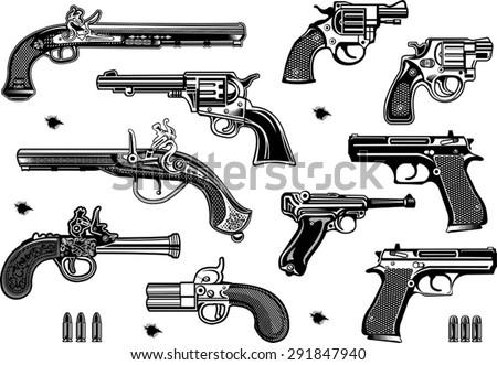 guns  old and modern