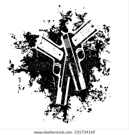 guns on the grunge background t