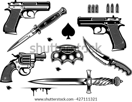 guns  pistol and revolver
