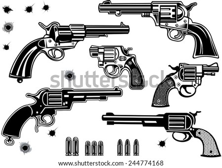 guns  revolver collection set