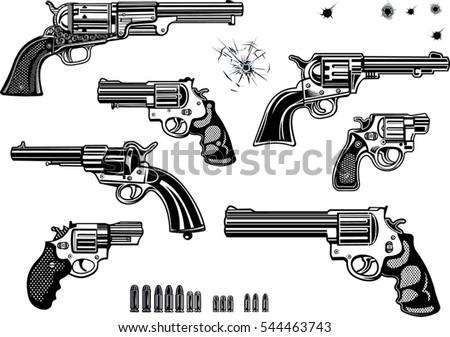 guns  revolver collection set
