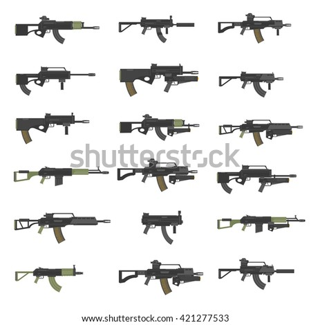 guns  rifles  submachines