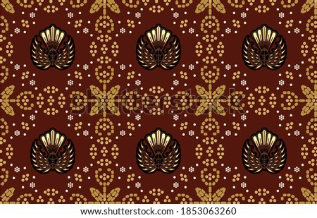 Gurda batik motifs, typical of Indonesian Javanese with various development patterns, both color variations and elements, are exclusive. vector EPS 10 Zdjęcia stock ©