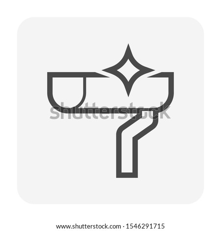 gutter cleaning vector icon