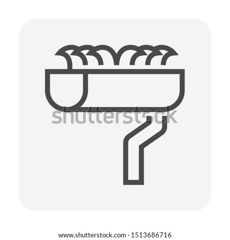 gutter dirty vector icon design