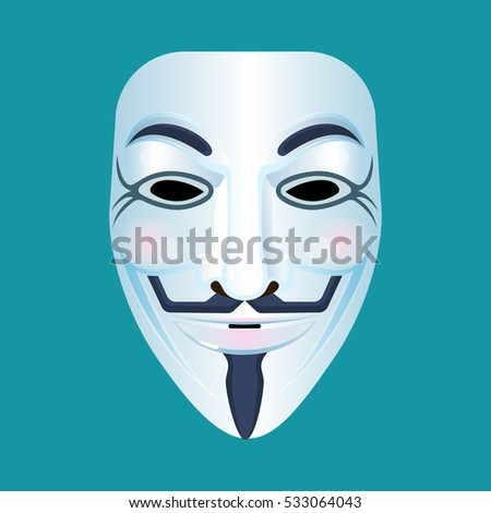 guy fawkes mask stylised