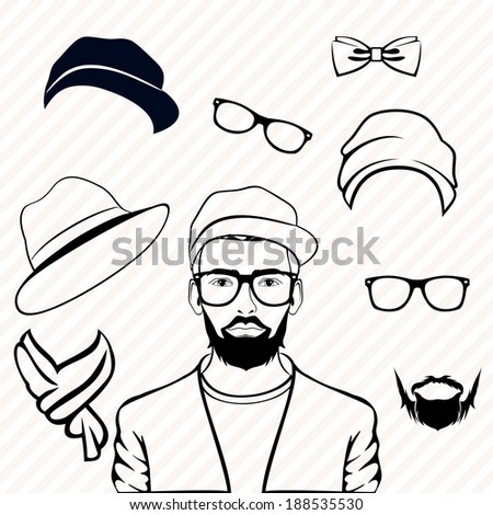 Guys With Beards And no Mustache Guy Hipster Clothes Hat Beard