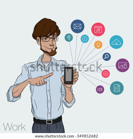 guy in business suit showing a