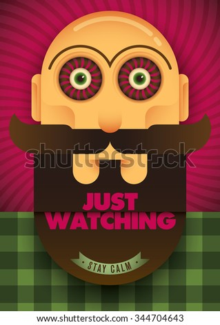 guy with spooky eyes vector