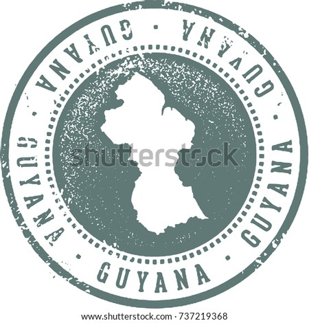 Guyana South America Travel Stamp
