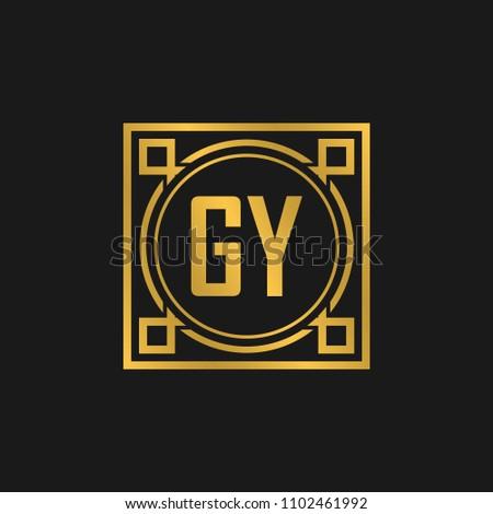GY initial logo. Luxury ornament crown logo. Stock fotó ©