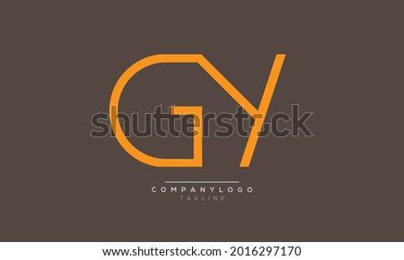 GY initials monogram letter text alphabet logo design Stock fotó ©