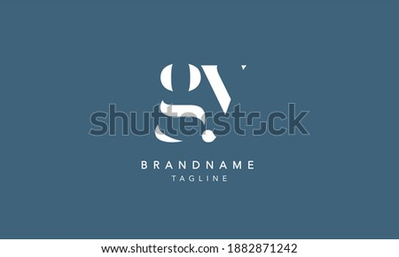 GY Lowercase Letter Initial Icon Logo Design Vector Illustration Stock fotó ©