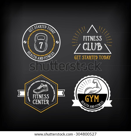 gym and fitness club logo...