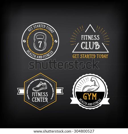 gym and fitness club logo...