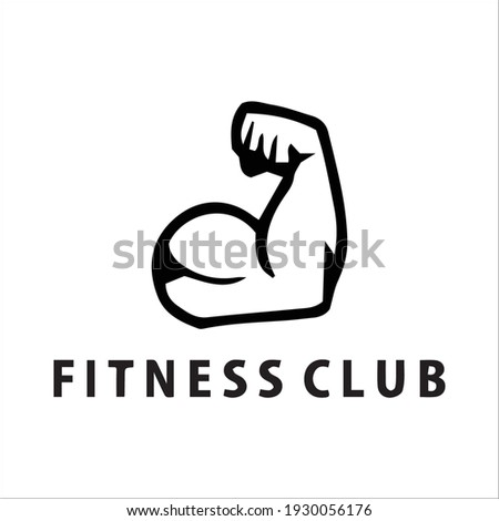 Gym and fitness logo template retro emblem and icon Stock foto ©