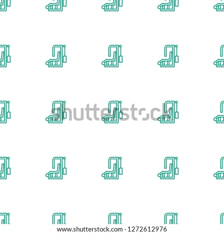 gym equipment icon pattern seamless white background. Editable outline gym equipment icon. gym equipment icon pattern for web and mobile.