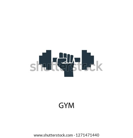 gym icon. Simple element illustration. gym concept symbol design. Can be used for web and mobile.