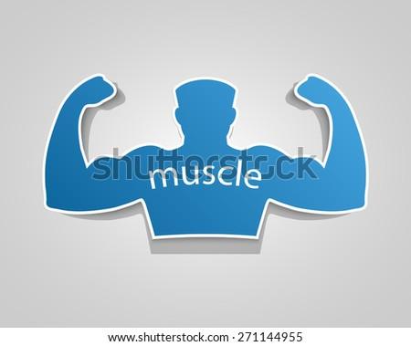 Gym label design and street workout sticker.