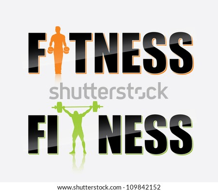 Gym label - vector illustration