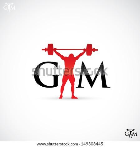 Gym label - vector illustration