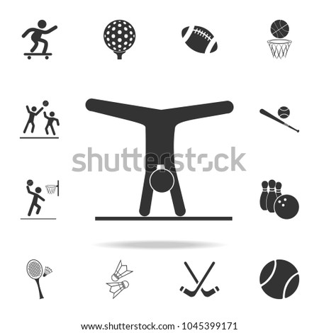 Gymnastics Rhythmic sport icon. Detailed set of athletes and accessories icons. Premium quality graphic design. One of the collection icons for websites, web design, mobile app on white background
