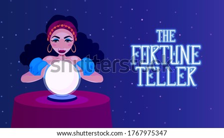 gypsy fortune teller with a