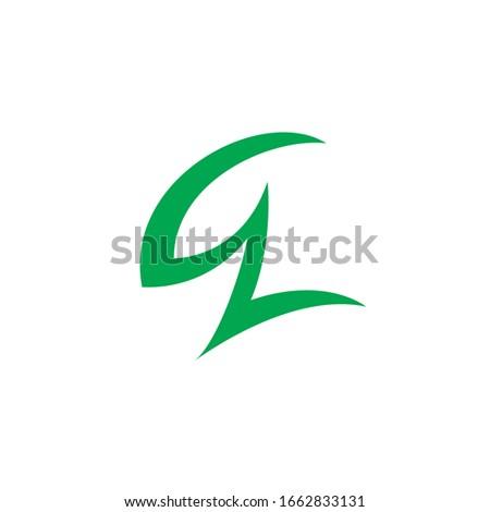 GZ logo Absstract combination letter G + Z Stok fotoğraf ©