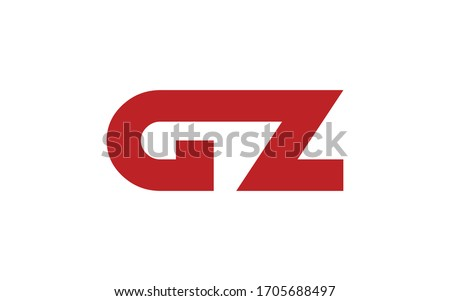 GZ or ZG and G or Z Uppercase Letter Initial Logo Design, Vector Template Stok fotoğraf ©