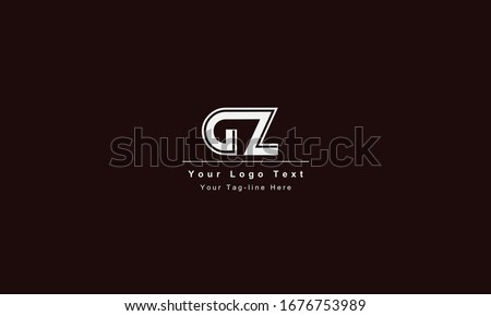 GZ or ZG letter logo. Unique attractive creative modern initial GZ ZG G Z initial based letter icon logo Stok fotoğraf ©