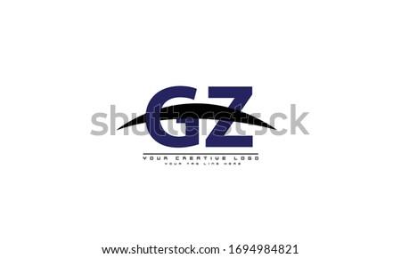GZ ZG abstract vector logo monogram template Stok fotoğraf ©