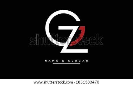 GZ,ZG ,G,Z  Abstract Letters Logo Monogram Stok fotoğraf ©