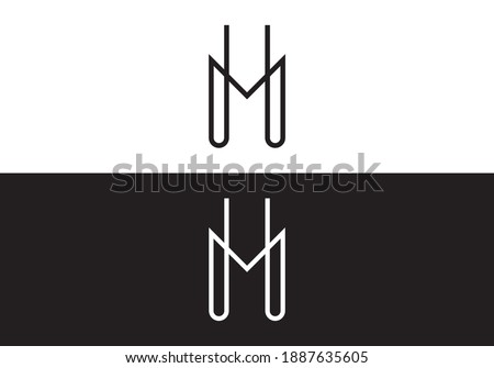 H and M letter logo combination for your business  Stock fotó ©