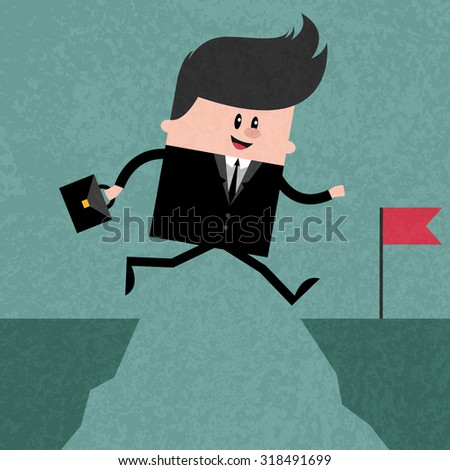 h    appy businessman jumping