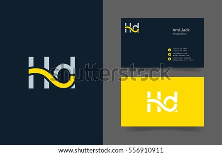 H & D  Letter logo design vector element