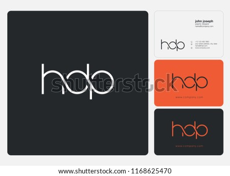 H D P Letters Joint Logo Icon And Business Card Vector Template