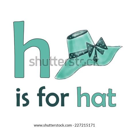 h is for hat children alphabet for kids educational books hat illustration for letter