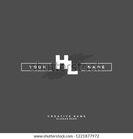 H L HL Initial logo template vector Stock fotó ©