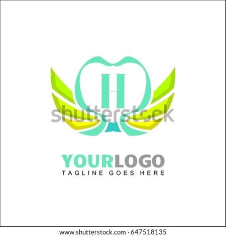 h letter brand identity for