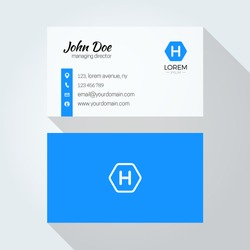 H Letter logo Minimal Corporate Business card