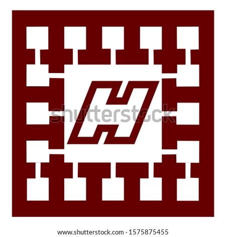 H letter logo with nice background.nice logo design.