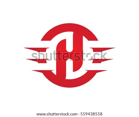h letter wing logo template